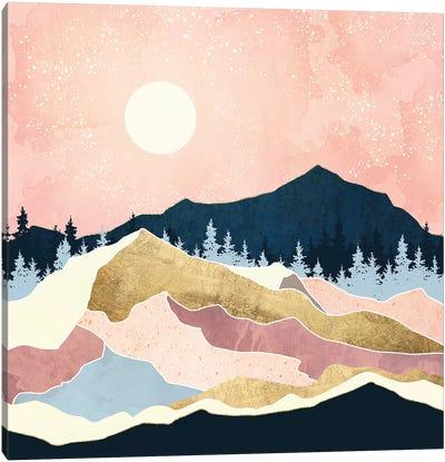 Coral Sunset Canvas Art Print