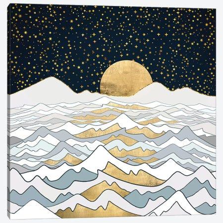 Golden Ocean Canvas Print #SFD191} by SpaceFrog Designs Art Print