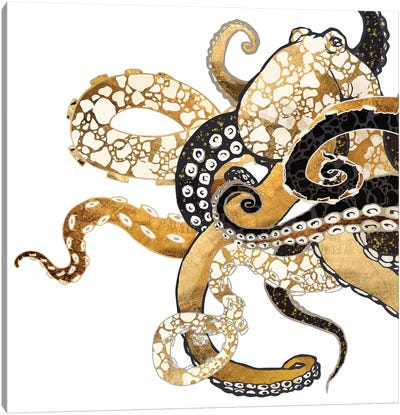 Metallic Octopus Canvas Art Print