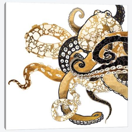 Metallic Octopus Canvas Print #SFD192} by SpaceFrog Designs Canvas Print