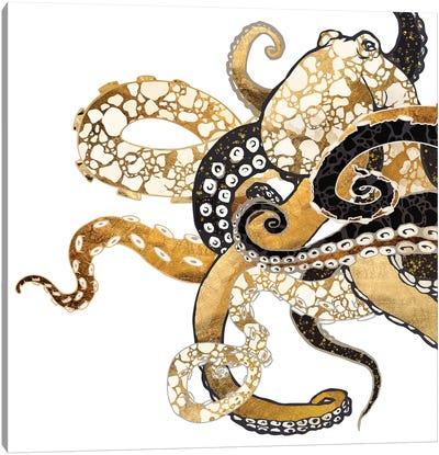 Metallic Octopus Canvas Art Print