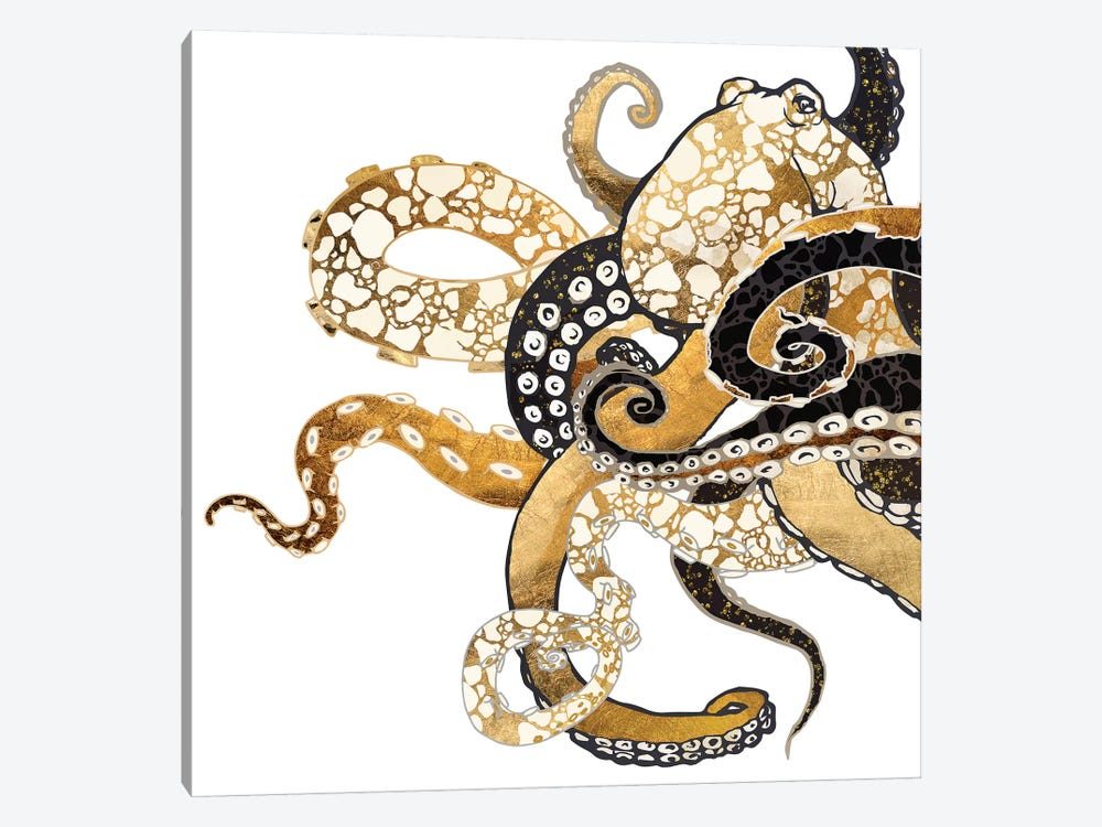 Metallic Octopus by SpaceFrog Designs 1-piece Canvas Art Print