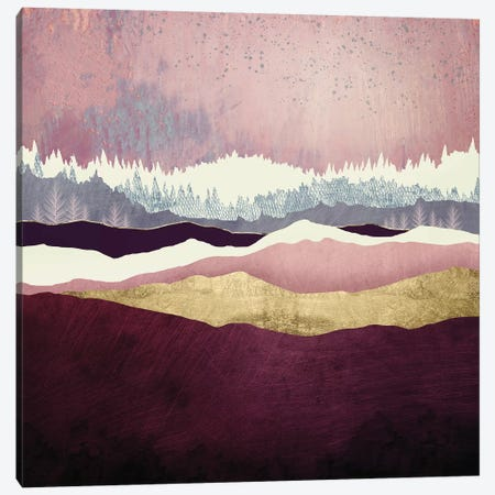 Raspberry Hills Canvas Print #SFD194} by SpaceFrog Designs Canvas Art