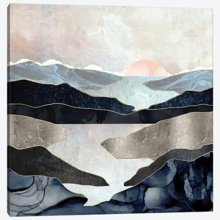 Blue Mountain Lake Canvas Print #SFD198} by SpaceFrog Designs Canvas Art Print