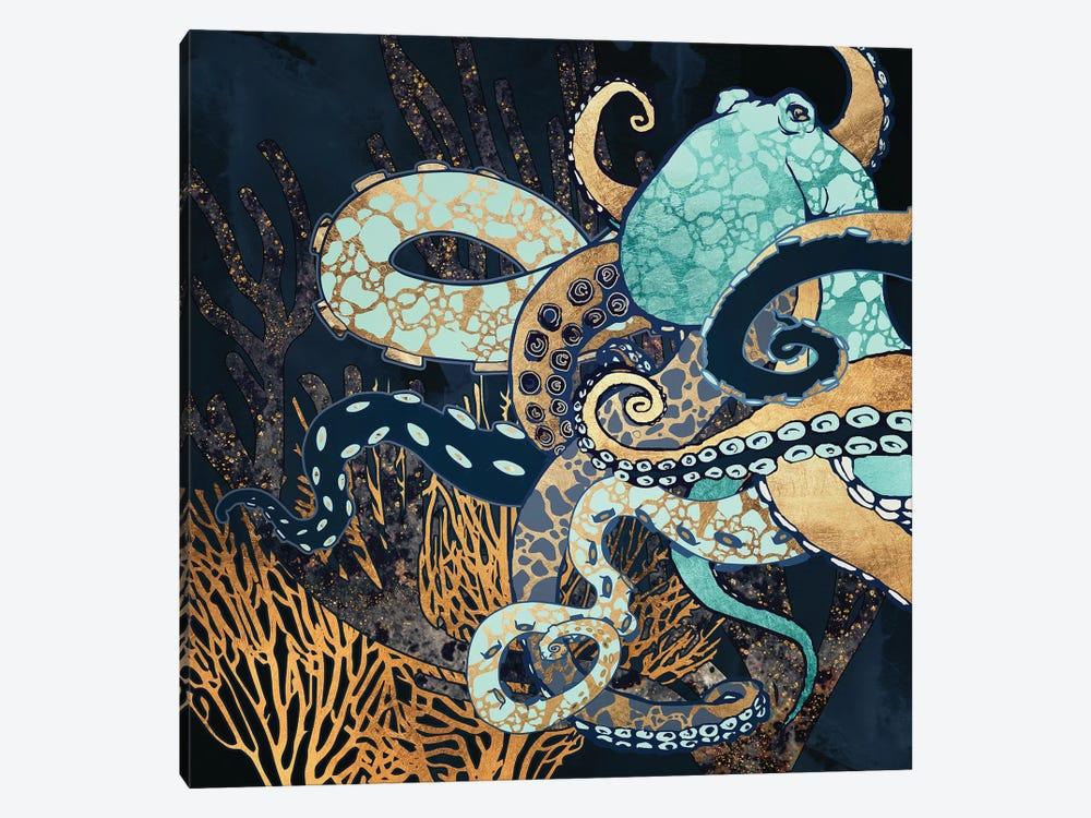 Metallic Octopus II by SpaceFrog Designs 1-piece Canvas Artwork