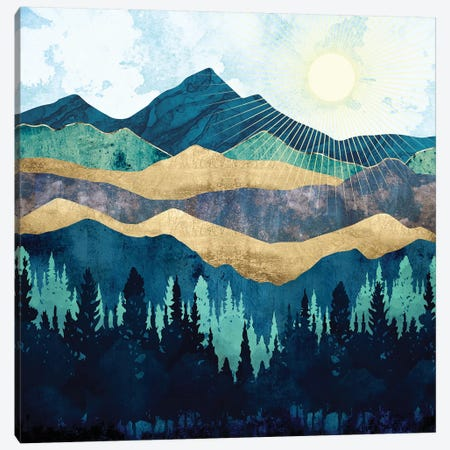 Blue Forest Canvas Print #SFD211} by SpaceFrog Designs Canvas Artwork