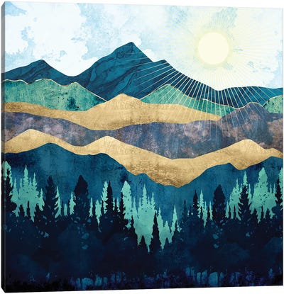 Blue Forest Canvas Art Print