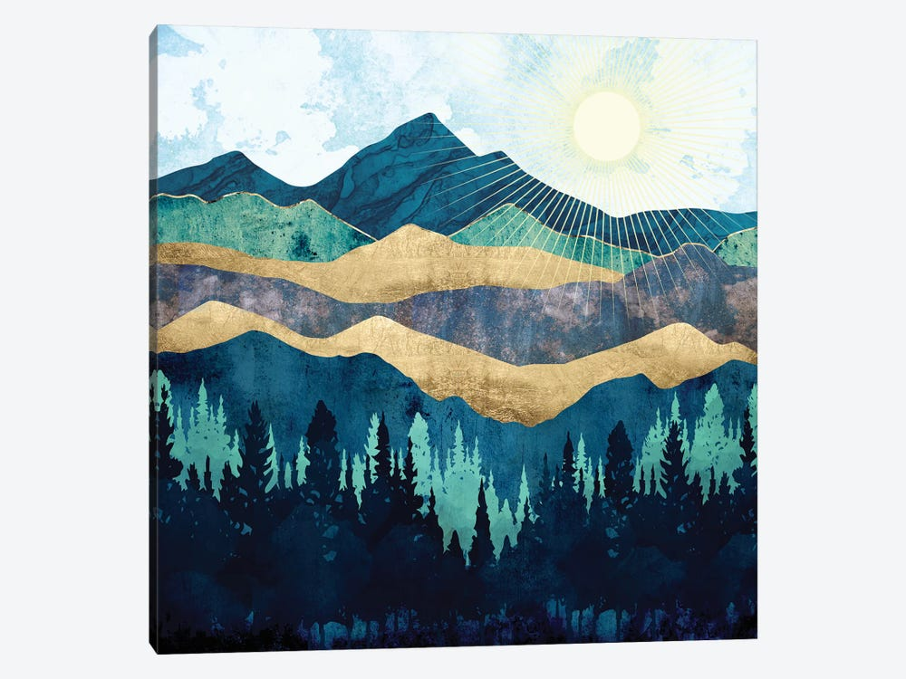 Blue Forest by SpaceFrog Designs 1-piece Canvas Art