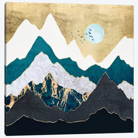 Golden Flight Canvas Print #SFD212} by SpaceFrog Designs Canvas Wall Art