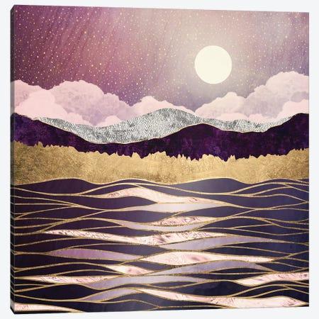 Lunar Waves Canvas Print #SFD213} by SpaceFrog Designs Canvas Art