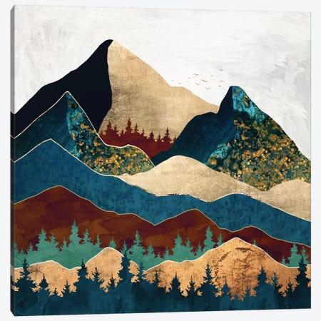 Malachite Mountains Canvas Print #SFD214} by SpaceFrog Designs Art Print