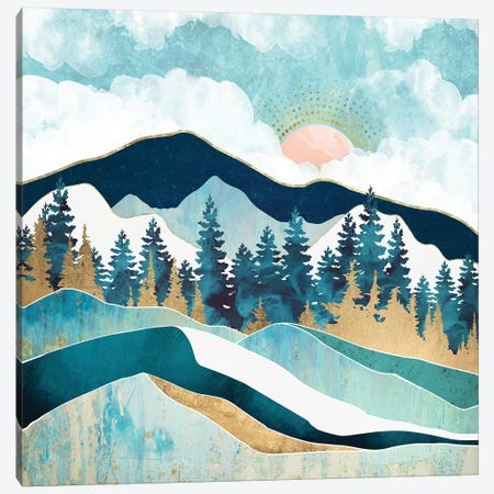Summer Forest Canvas Print #SFD218} by SpaceFrog Designs Canvas Artwork