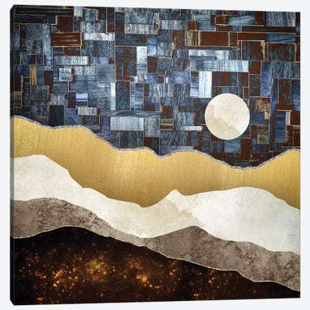 Copper Ground 3-Piece Canvas #SFD21} by SpaceFrog Designs Art Print