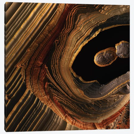 Tigers Eye Canyon Canvas Print #SFD220} by SpaceFrog Designs Canvas Art Print
