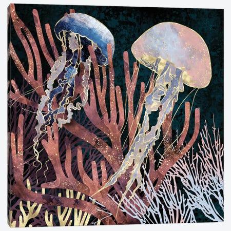 Metallic Coral Canvas Print #SFD227} by SpaceFrog Designs Canvas Artwork