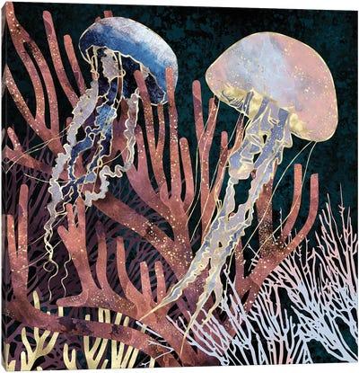 Metallic Coral Canvas Art Print
