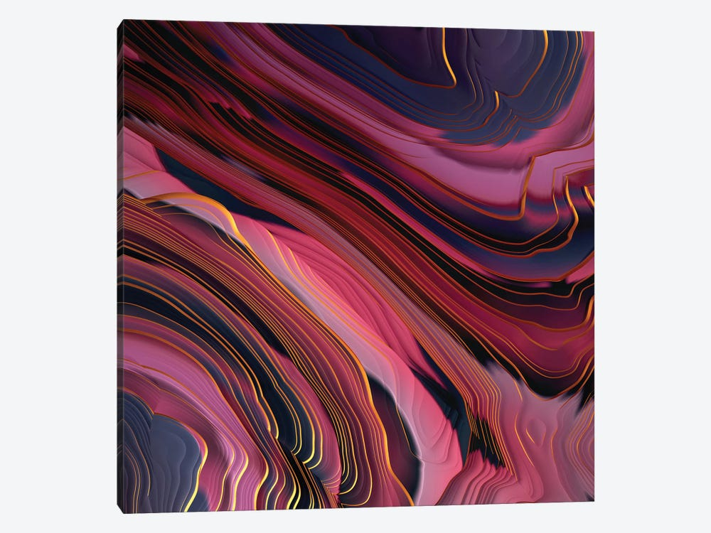 Plum Abstract by SpaceFrog Designs 1-piece Canvas Art