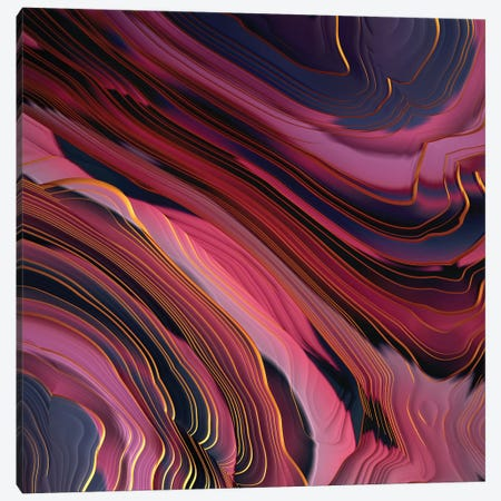 Plum Abstract Canvas Print #SFD228} by SpaceFrog Designs Art Print