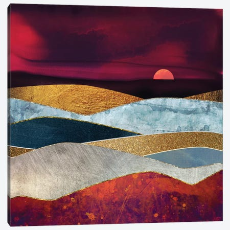 Crimson Sky Canvas Print #SFD22} by SpaceFrog Designs Canvas Print