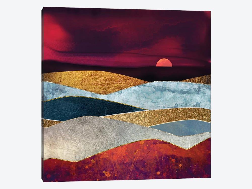 Crimson Sky by SpaceFrog Designs 1-piece Canvas Print