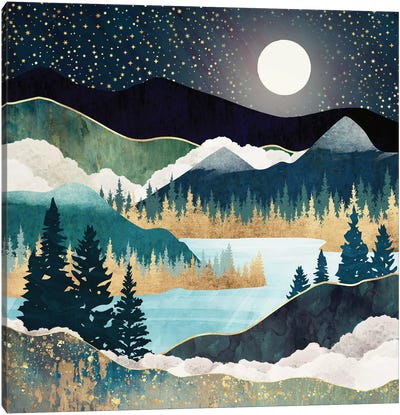 Star Lake Canvas Art Print