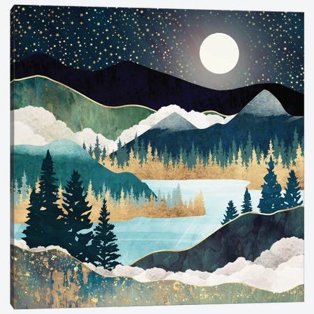 Star Lake Canvas Print #SFD230} by SpaceFrog Designs Canvas Artwork