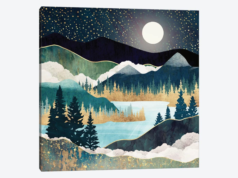 Star Lake by SpaceFrog Designs 1-piece Canvas Art Print