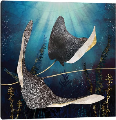 Metallic Stingray Canvas Art Print