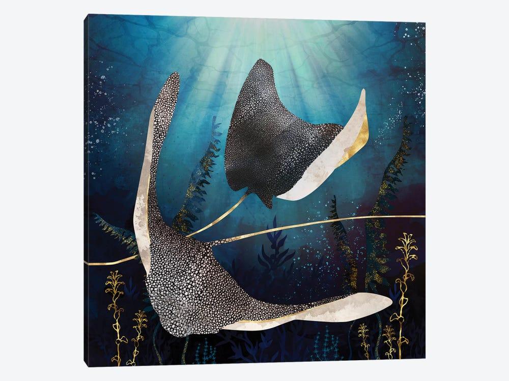 Metallic Stingray by SpaceFrog Designs 1-piece Canvas Print