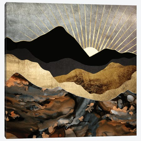 Copper and Gold Mountains Canvas Print #SFD237} by SpaceFrog Designs Art Print