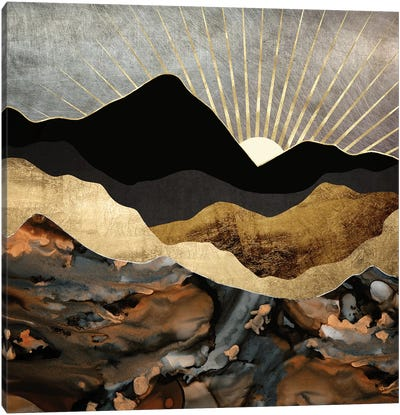 Copper and Gold Mountains Canvas Art Print