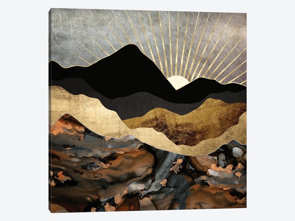 Copper and Gold Mountains by SpaceFrog Designs 1-piece Canvas Art