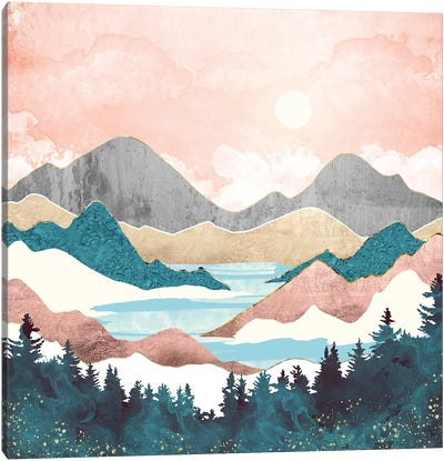 Lake Sunrise Canvas Art Print
