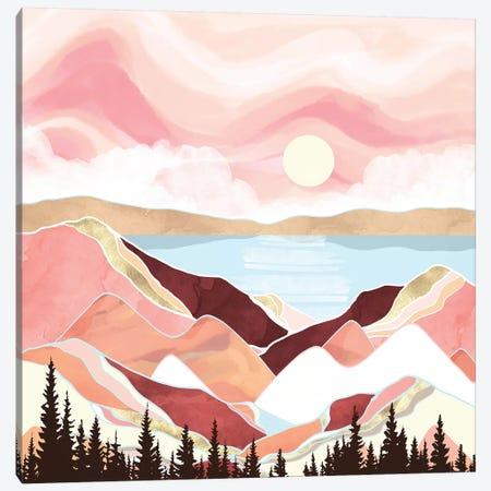 Autumn Lake Sunrise Canvas Print #SFD241} by SpaceFrog Designs Art Print