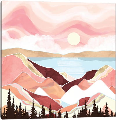Autumn Lake Sunrise Canvas Art Print
