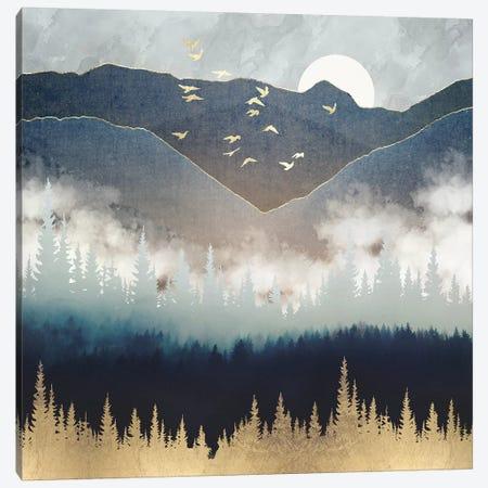 Blue Mountain Mist Canvas Print #SFD242} by SpaceFrog Designs Art Print