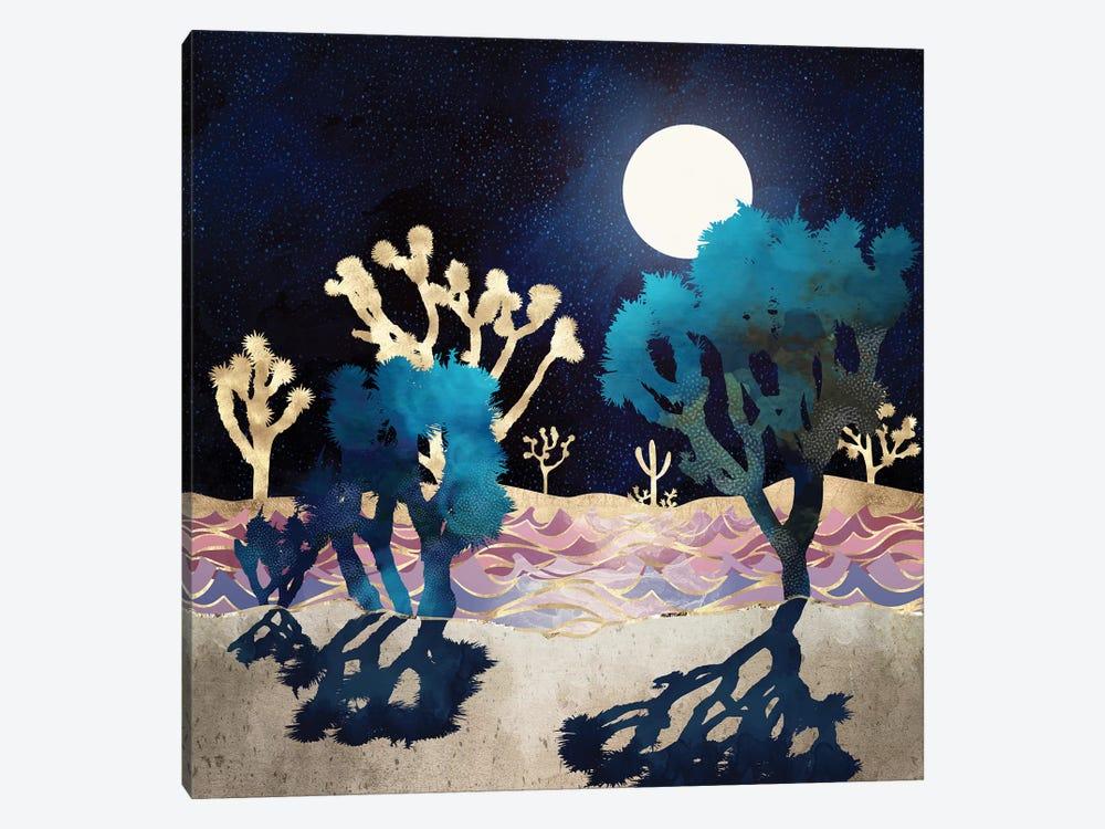 Desert Lake Moonlight by SpaceFrog Designs 1-piece Canvas Print