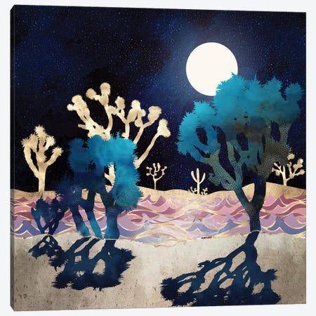 Desert Lake Moonlight Canvas Print #SFD243} by SpaceFrog Designs Art Print