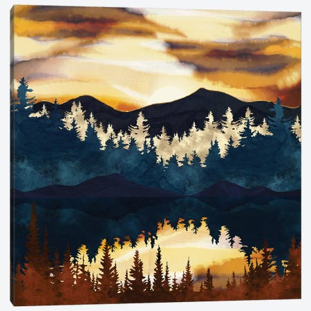 Fall Sunset Canvas Print #SFD244} by SpaceFrog Designs Canvas Artwork