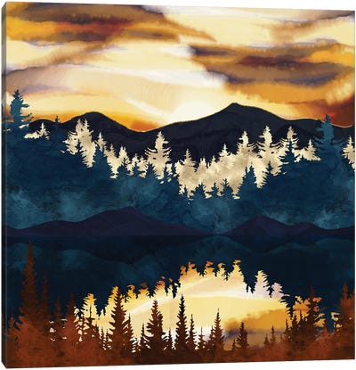 Fall Sunset Canvas Art Print
