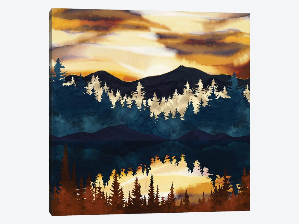 Fall Sunset by SpaceFrog Designs 1-piece Canvas Art