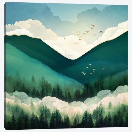 Emerald Hills Canvas Print #SFD247} by SpaceFrog Designs Canvas Artwork