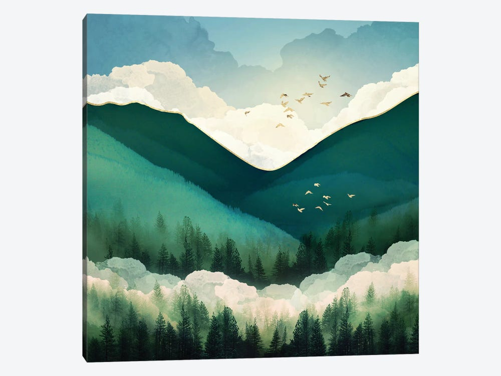 Emerald Hills by SpaceFrog Designs 1-piece Art Print
