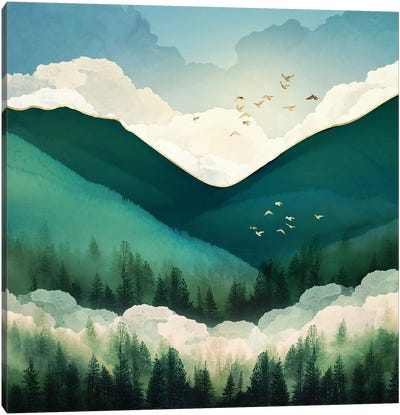 Emerald Hills Canvas Art Print