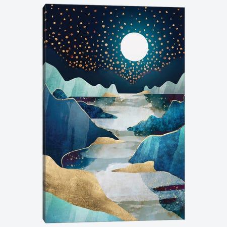 Moon Glow Canvas Print #SFD248} by SpaceFrog Designs Art Print