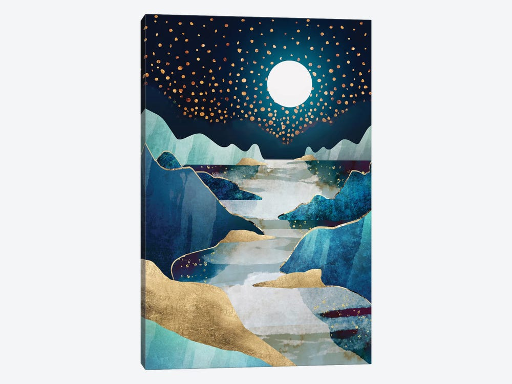 Moon Glow by SpaceFrog Designs 1-piece Canvas Art