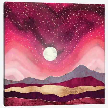 Scarlet Night Canvas Print #SFD249} by SpaceFrog Designs Art Print