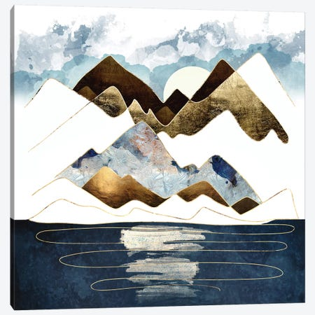 Minimal Abstract Mountains Canvas Print #SFD252} by SpaceFrog Designs Canvas Wall Art