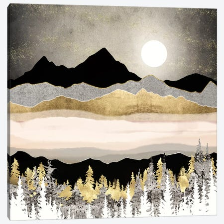 Winter Moon Canvas Print #SFD253} by SpaceFrog Designs Canvas Artwork