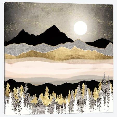 Winter Moon Canvas Print #SFD253} by SpaceFrog Designs Canvas Artwork